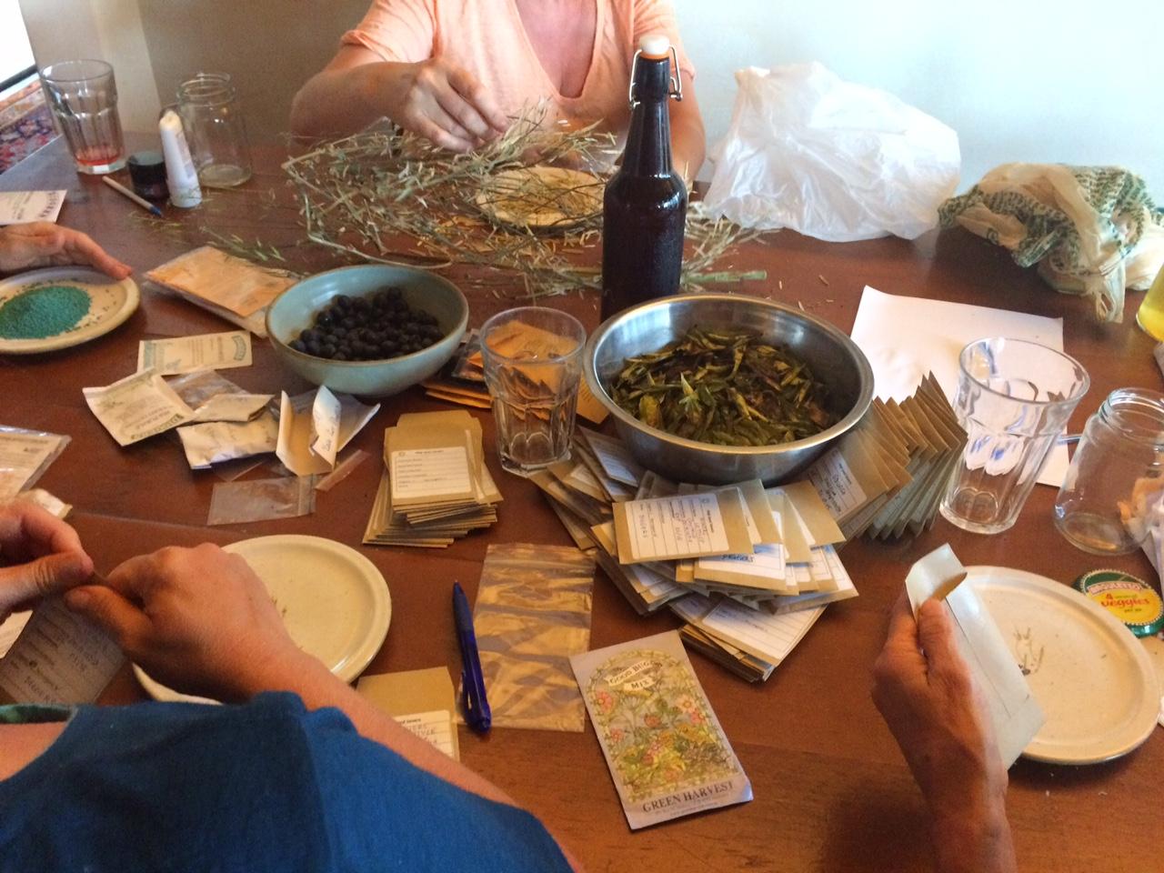 PNB seed savers team prepare for seed swap
