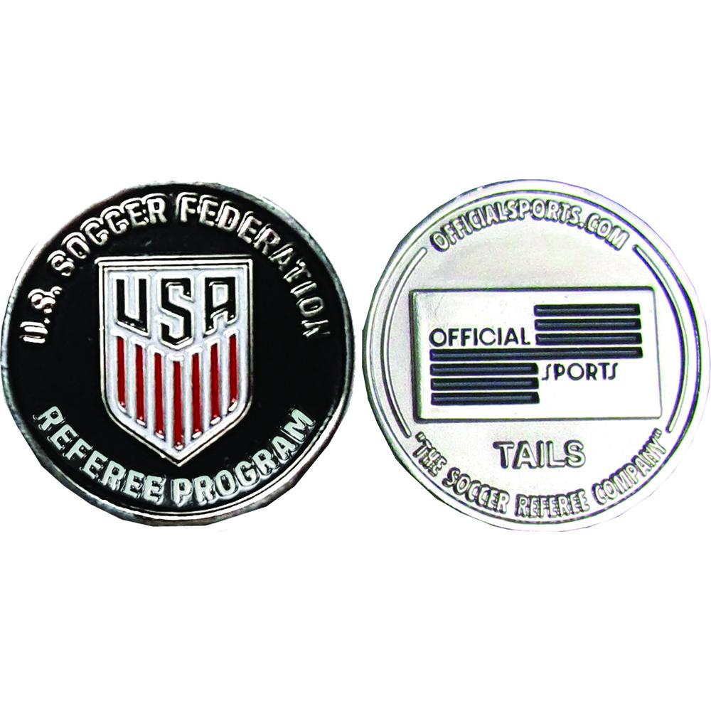 OSI US Soccer Silver Flip Coin