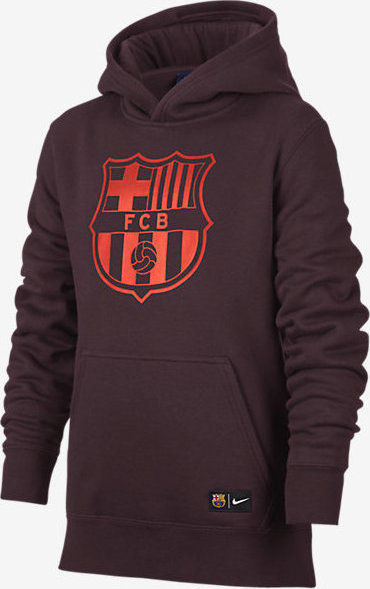 Nike FC Barcelona Youth Pullover Hoodie