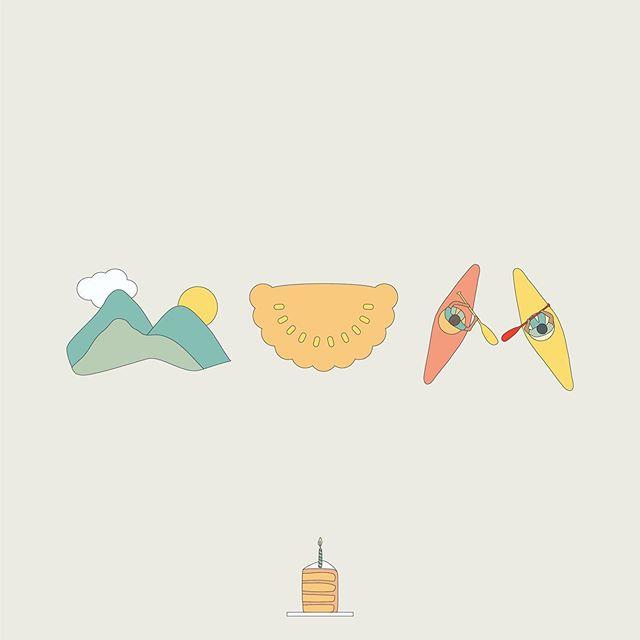 Happy birthday to my mum! Wishing you much hiking, pasties (South Australian), and kayaking in the coming year!! 😘 . . . #mum #birthday #lineicons #illustratedword #designer #cute #graphics #icons #graphicdesigner