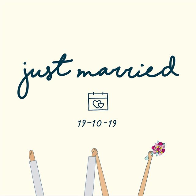 Seriously the best day! 👰🏻❤️🤵🏻 . . . #married #justmarried #illustration #vectorillustration #design #designer #graphics #visualdesigner #love