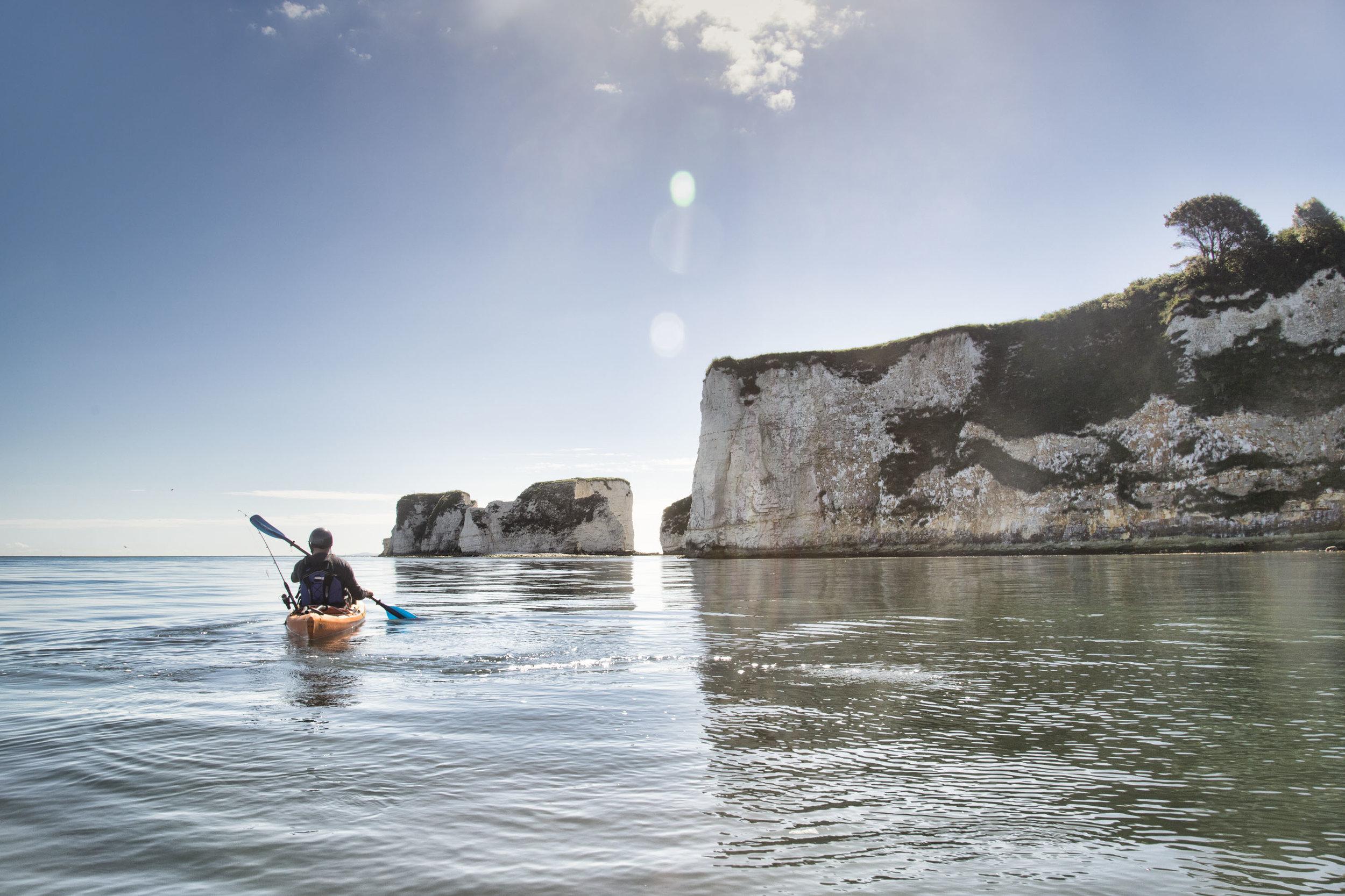 kayak fishing in dorset