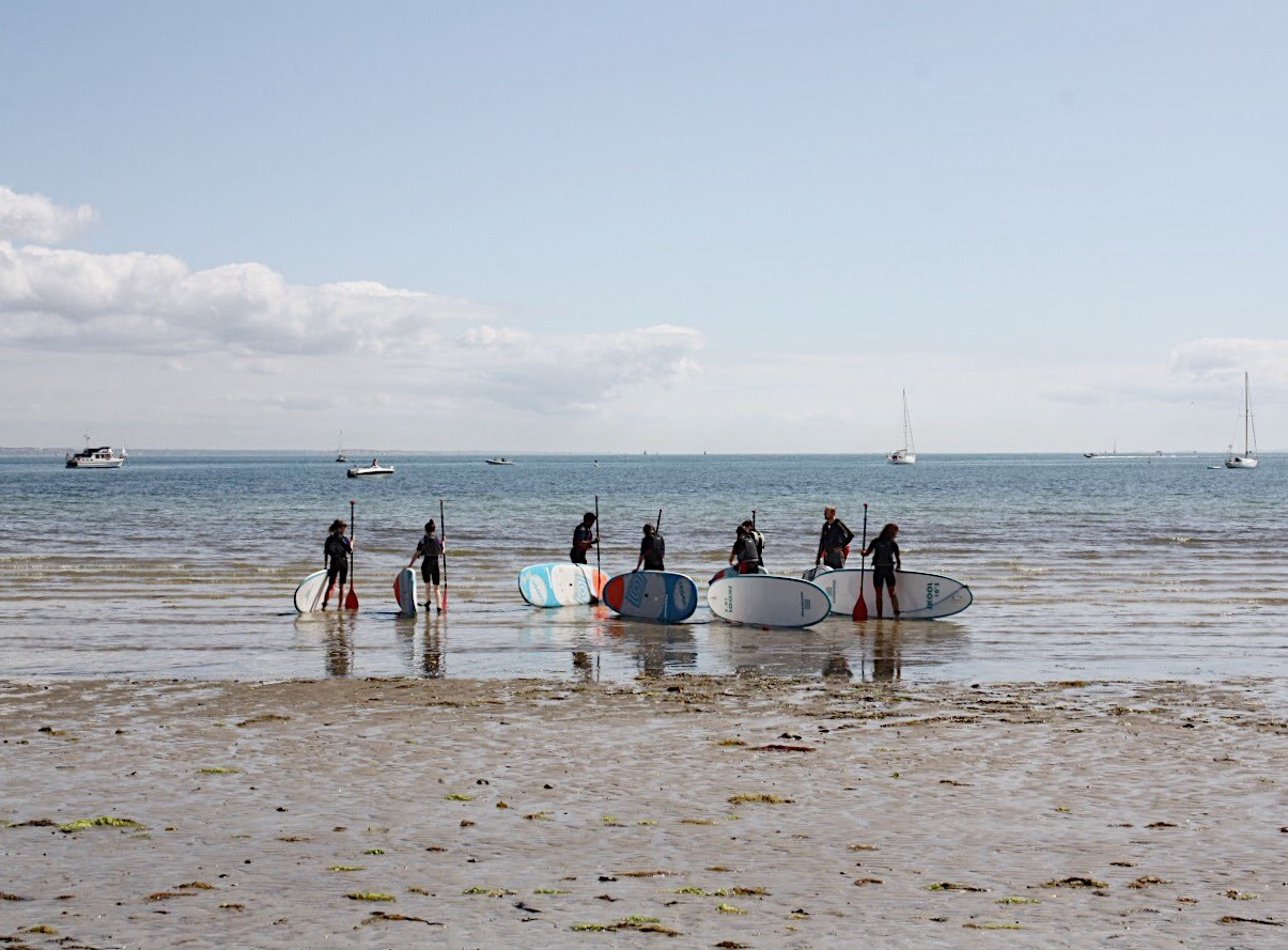 stand up paddleboarding in studland