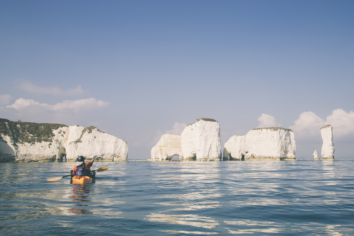 kayak fishing old harry rocks dorset