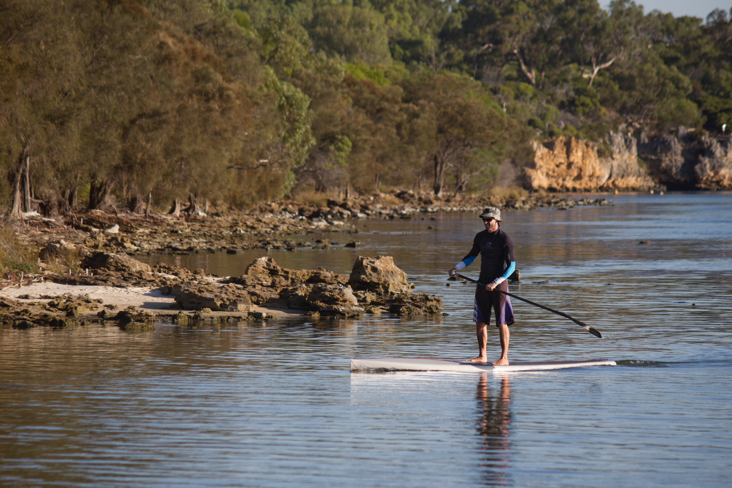 stand up paddleboarding in Poole harbour