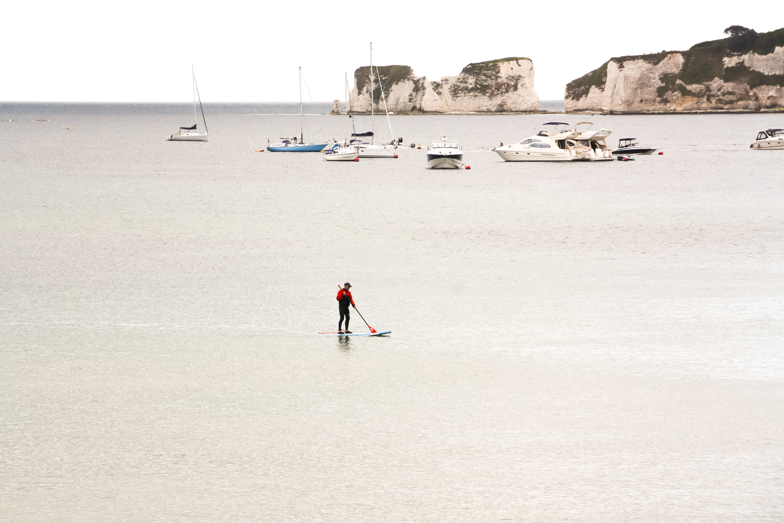 stand up paddleboard at studland