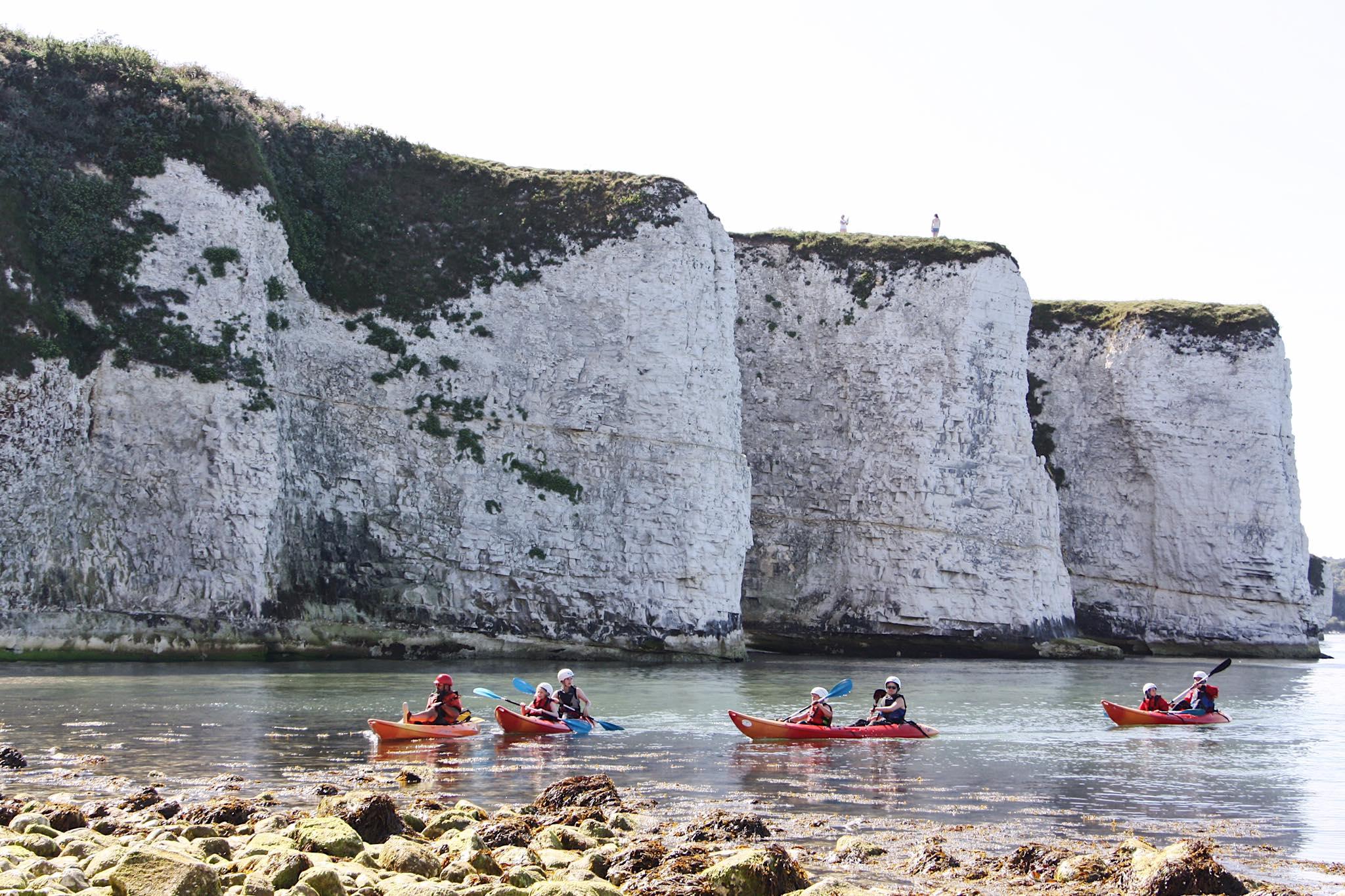 family kayaking tours in studland dorset