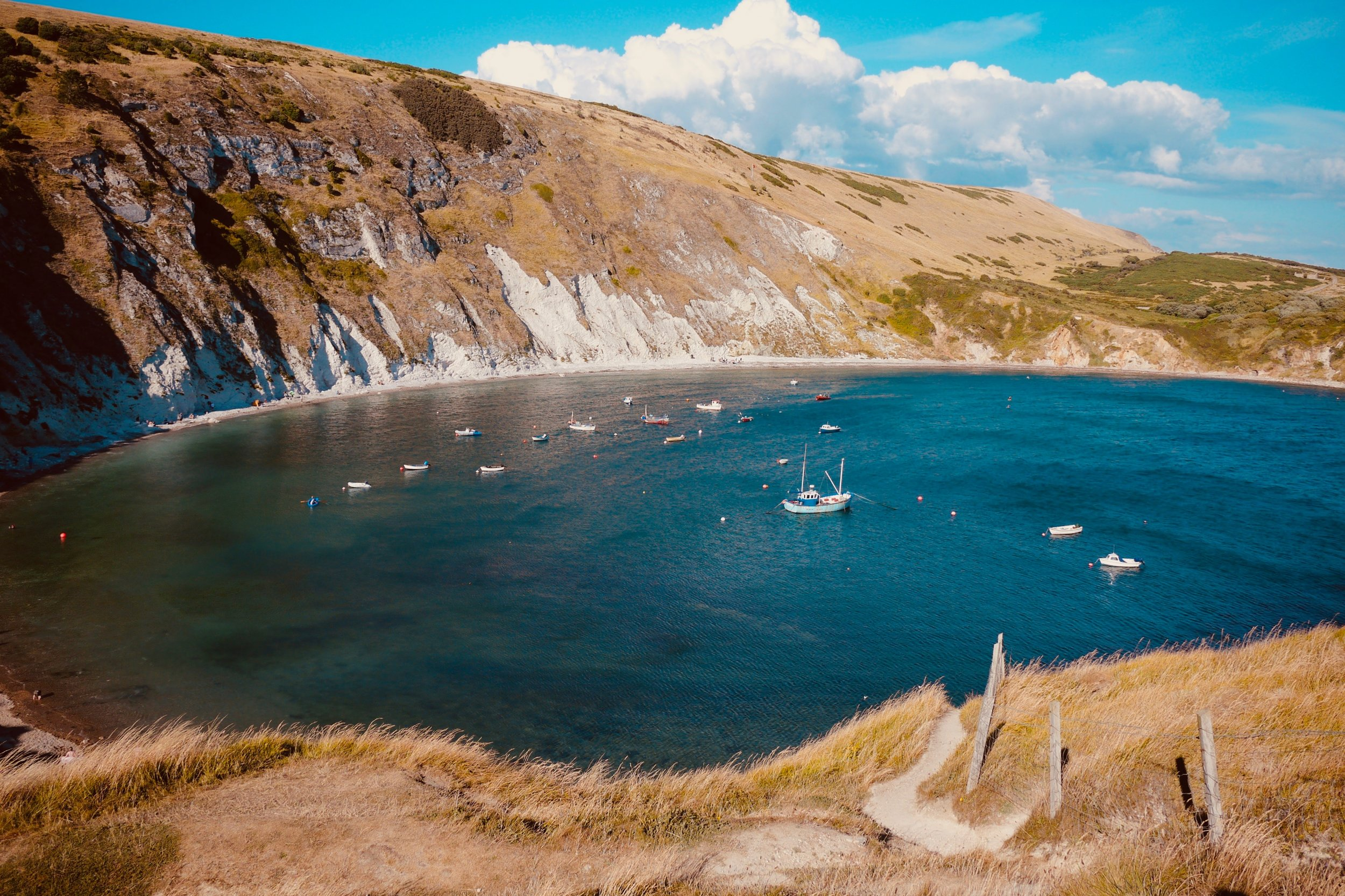 See this beauty spot at Lulworth cove by sea kayak