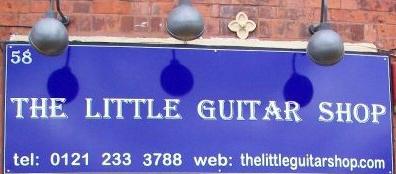 http://www.thelittleguitarshop.com  58 Spencer Street, Jewellery Quarter, Birmingham, B186DS