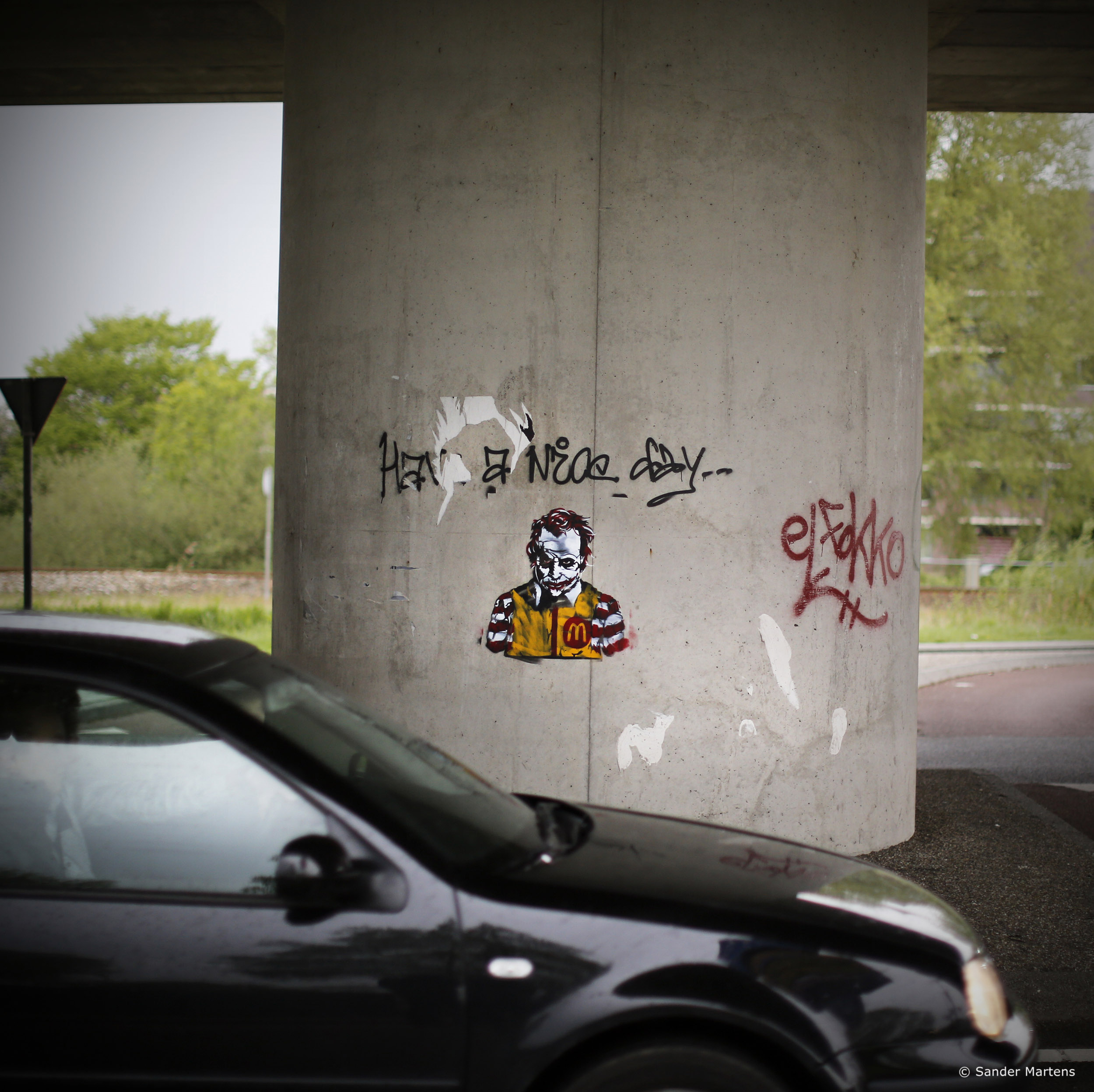 """Have a nice day"", from the new series "" Hello "". Groningen, the Netherlands (2013)"