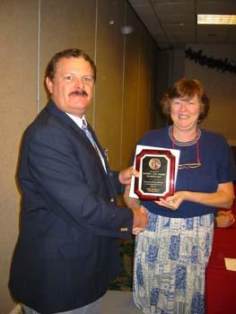 Kay Gargis receiving award for serving as president elect.jpg