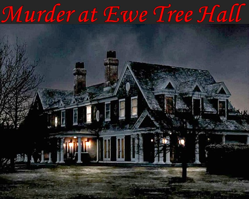 Manor house themed murder mystery dinner party games