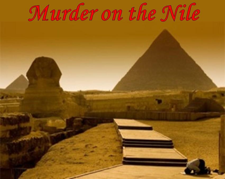 Egyptian themed murder mystery dinner party game