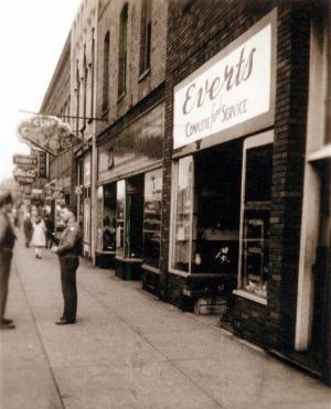 Everts original location at 208 Main Street