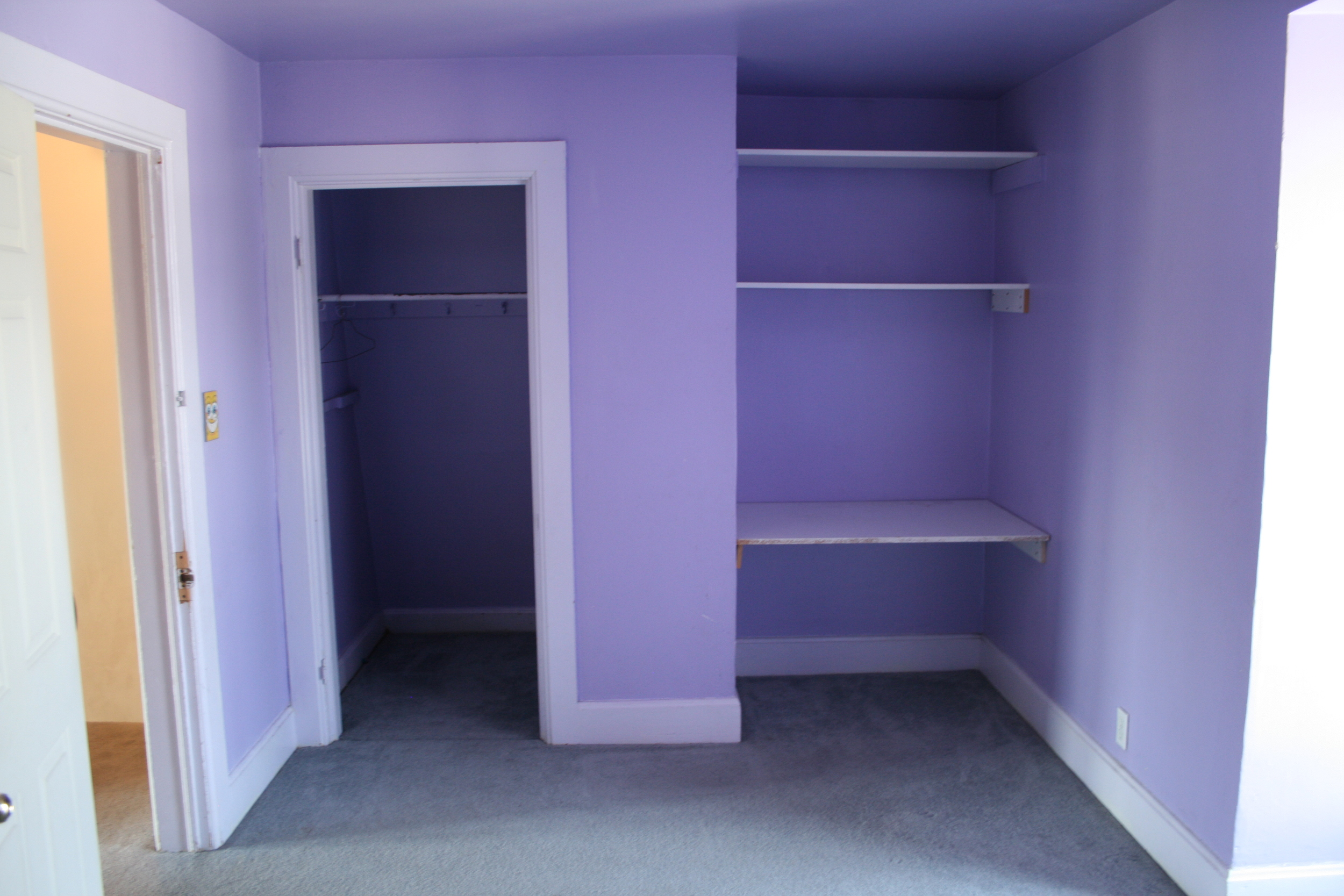 very purple bedroom