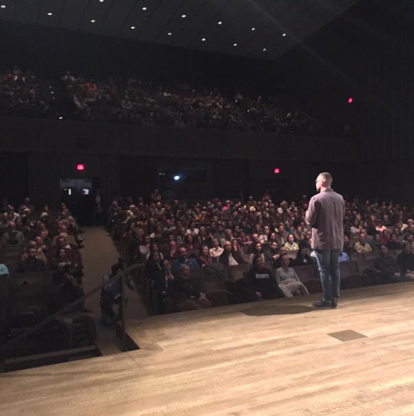 Art Museum Screening / Introduction By Bill and Patrick from CIFF. Look at that crowd!