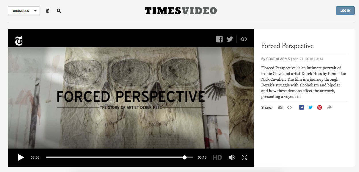 Featured on the video page at The New York Times