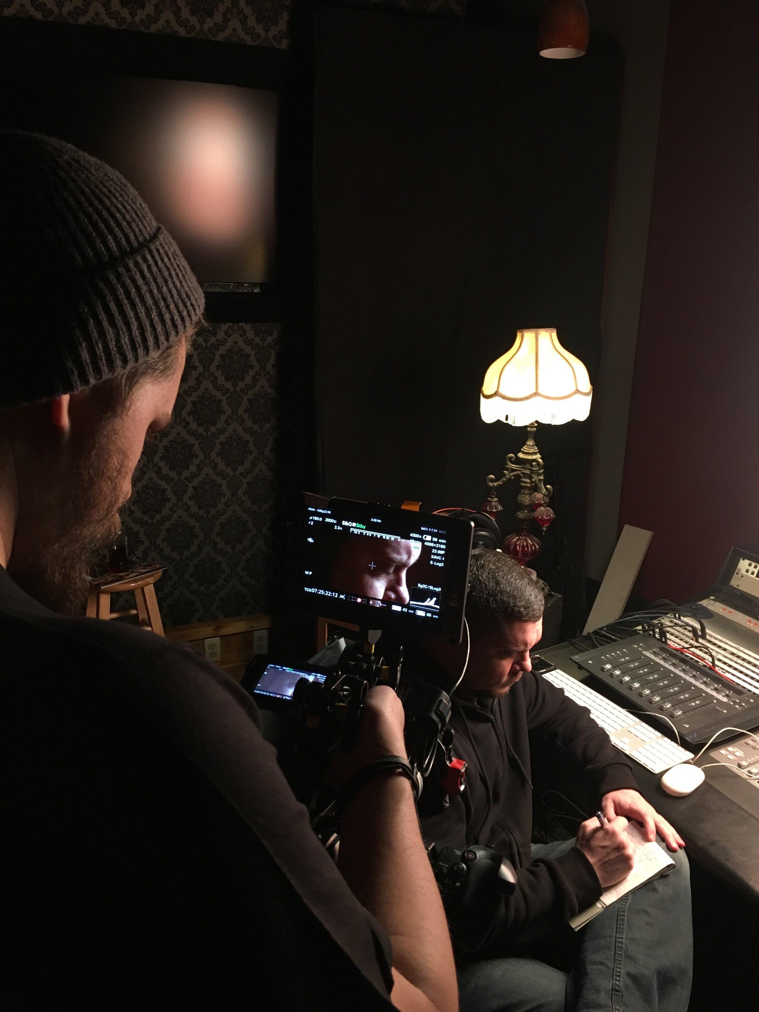 "Filming Chimaira Vocalist Mark Hunter for ""Down Again"""