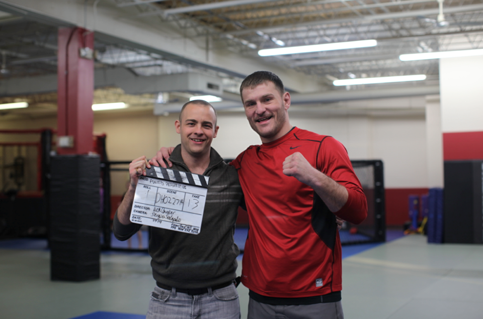 On set for Forced Perspective with UFC Heavyweight Champ Stipe Miocic