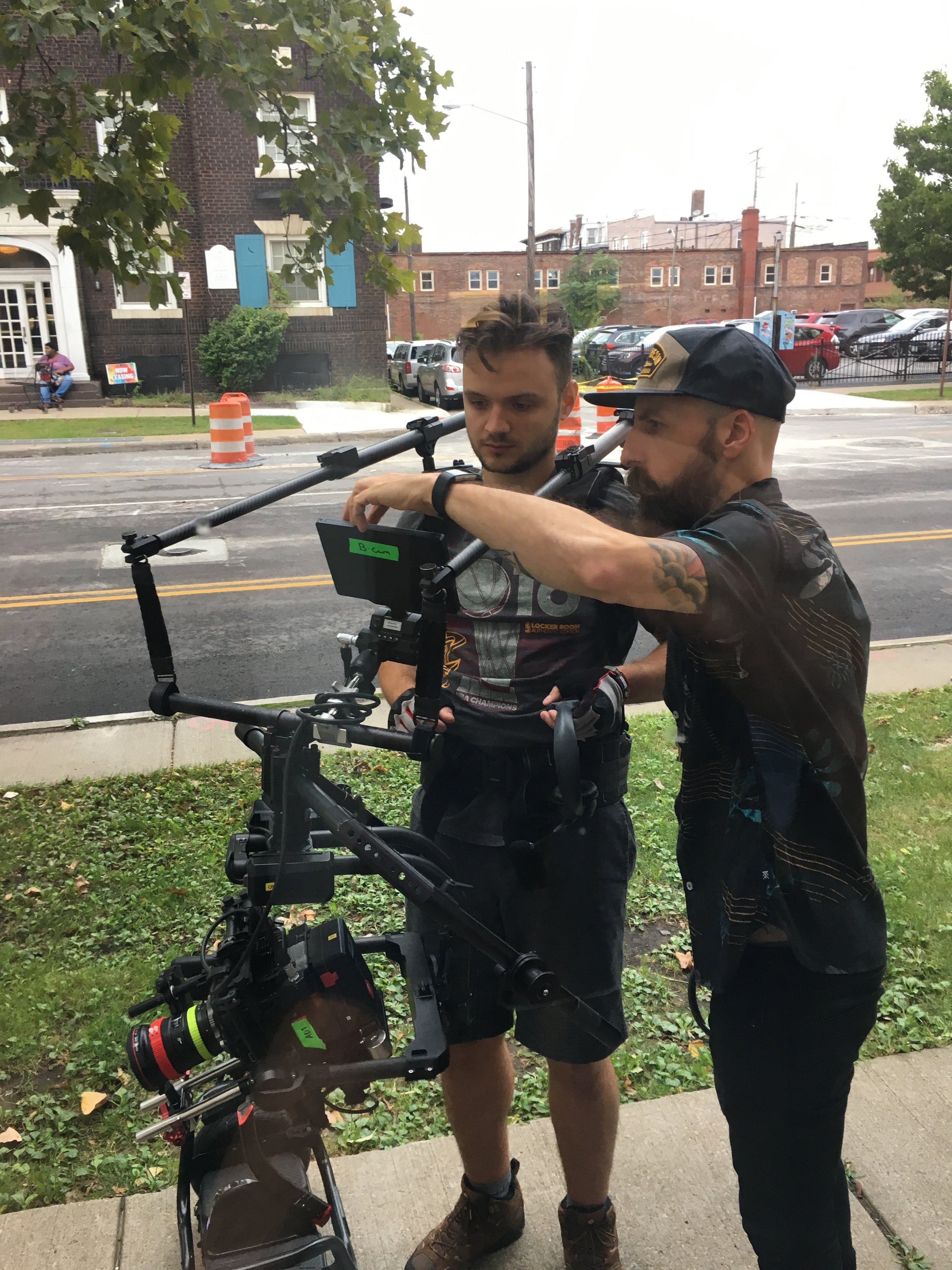 John Pope and AC Mike Bacanu Prepping the Movi