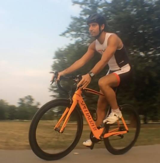 Paolo durante un allenamento di squadra al Parco alla Porada di Seregno