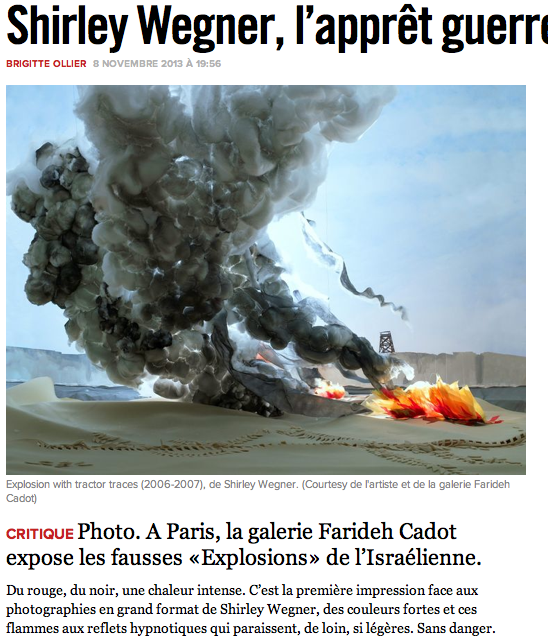"Brigitte Ollier, ""Shirley Wegner, L'appret Guerre,"" La Liberation, November 8, 2013"