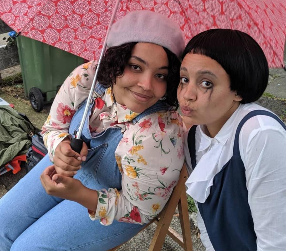"Jennifer Dixon and Lekhani Chirwa as ""Remi"" and ""Dark Remi""."