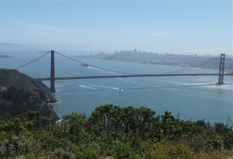 San Francisco, the N.E. end of the Santa Cruz Mountains from Marin Headlands