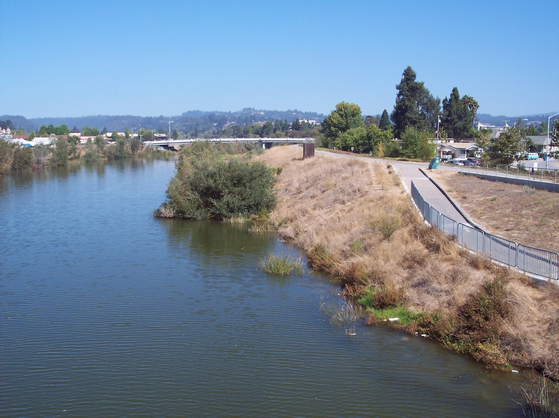 Lower San Lorenzo River levies, Santa Cruz