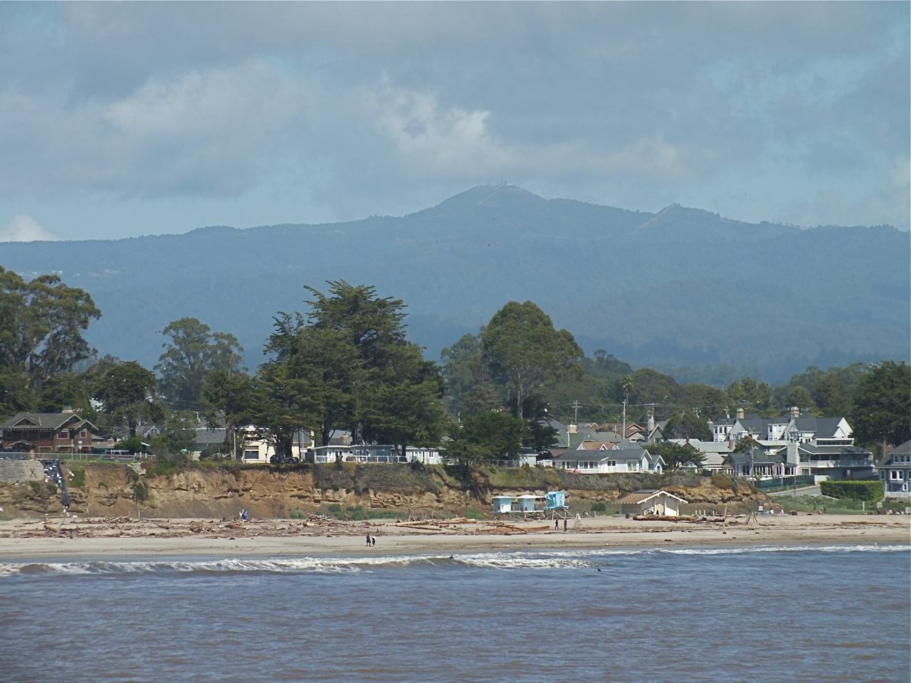 Loma Prieta from Seabright beach, Santa Cruz