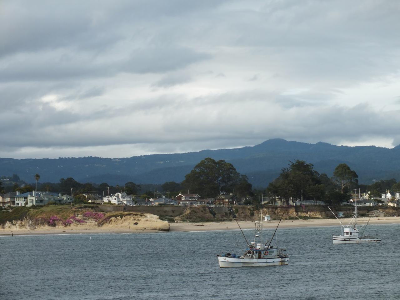 Loma Prieta with fishing boats from Santa Cruz area