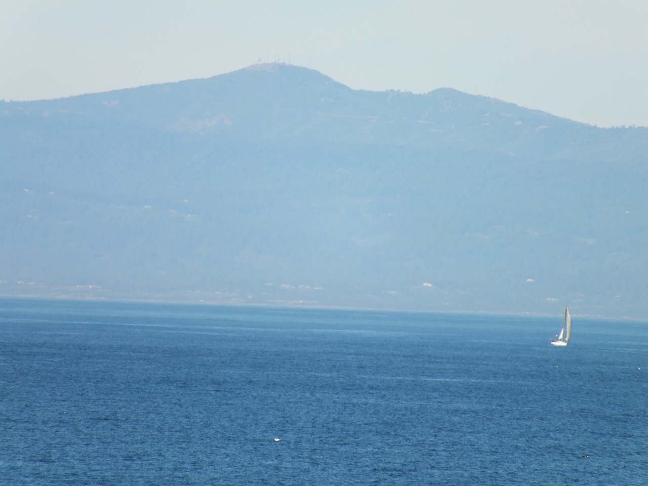 Telephoto image of Loma Prieta from Monterey