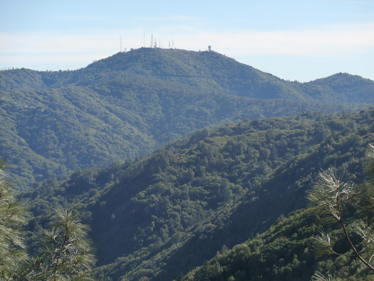 "Telephoto image of Loma Prieta from Mt. Umunhum. The word ""Umunhum"" is of Ohlone origin and means hummingbird."