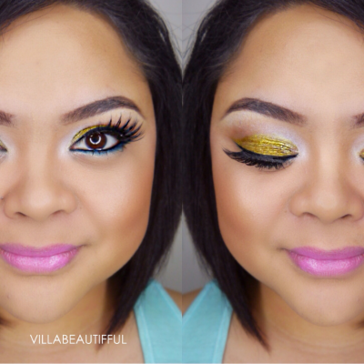 Colorful up-close makeup with L.A. Girl Cosmetics