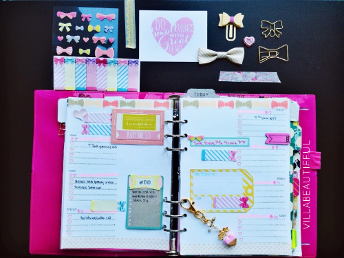 FILOFAX PLANNING PAGES WEEK 32   BOWS