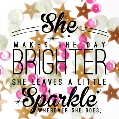Sparkle Quote Card