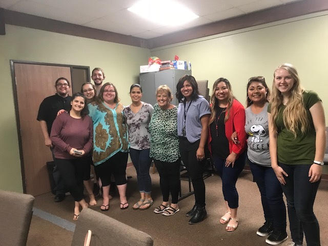 Professor Colclasure with her Early Childhood Education students at the Redlands campus.