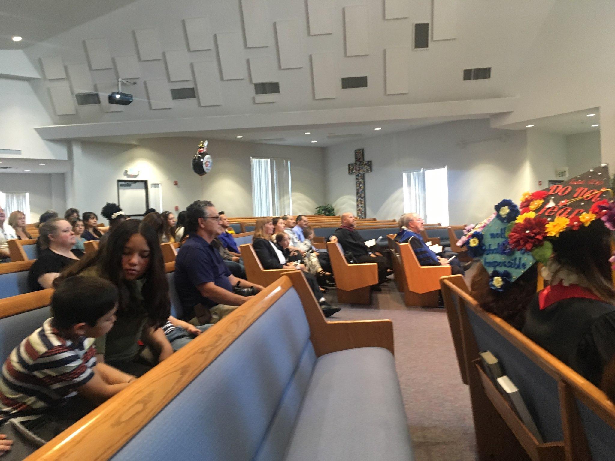 Graduation 2019 at the Rivers Church, Redlands, California