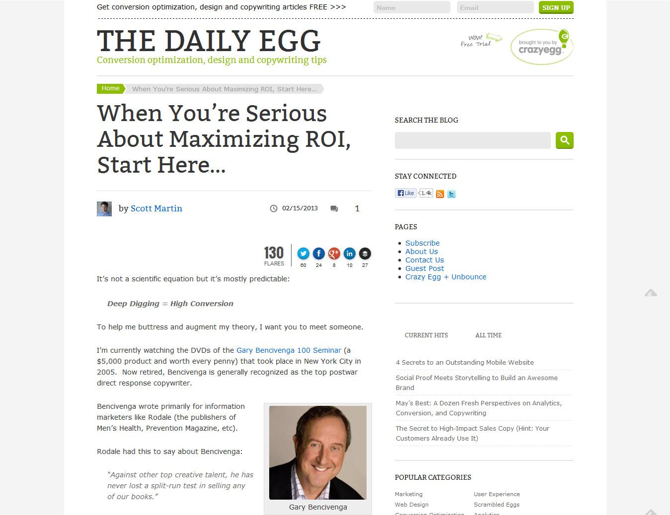 The Crazy Egg