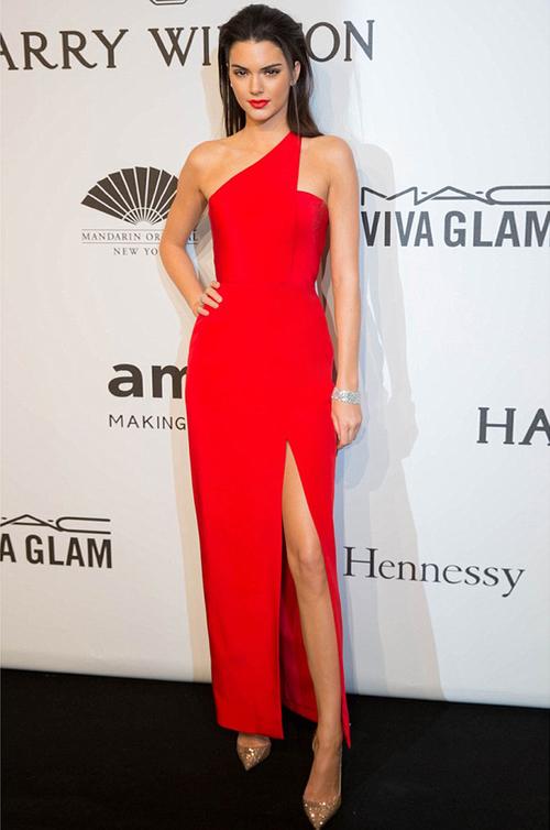 Kendall Jenner Sizzles in Romona Keveža Luxury RTW Collection at AmfAR Gala opening New York Fashion Week.