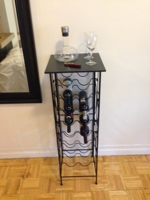 I put this wine rack together myself, thank you very much.