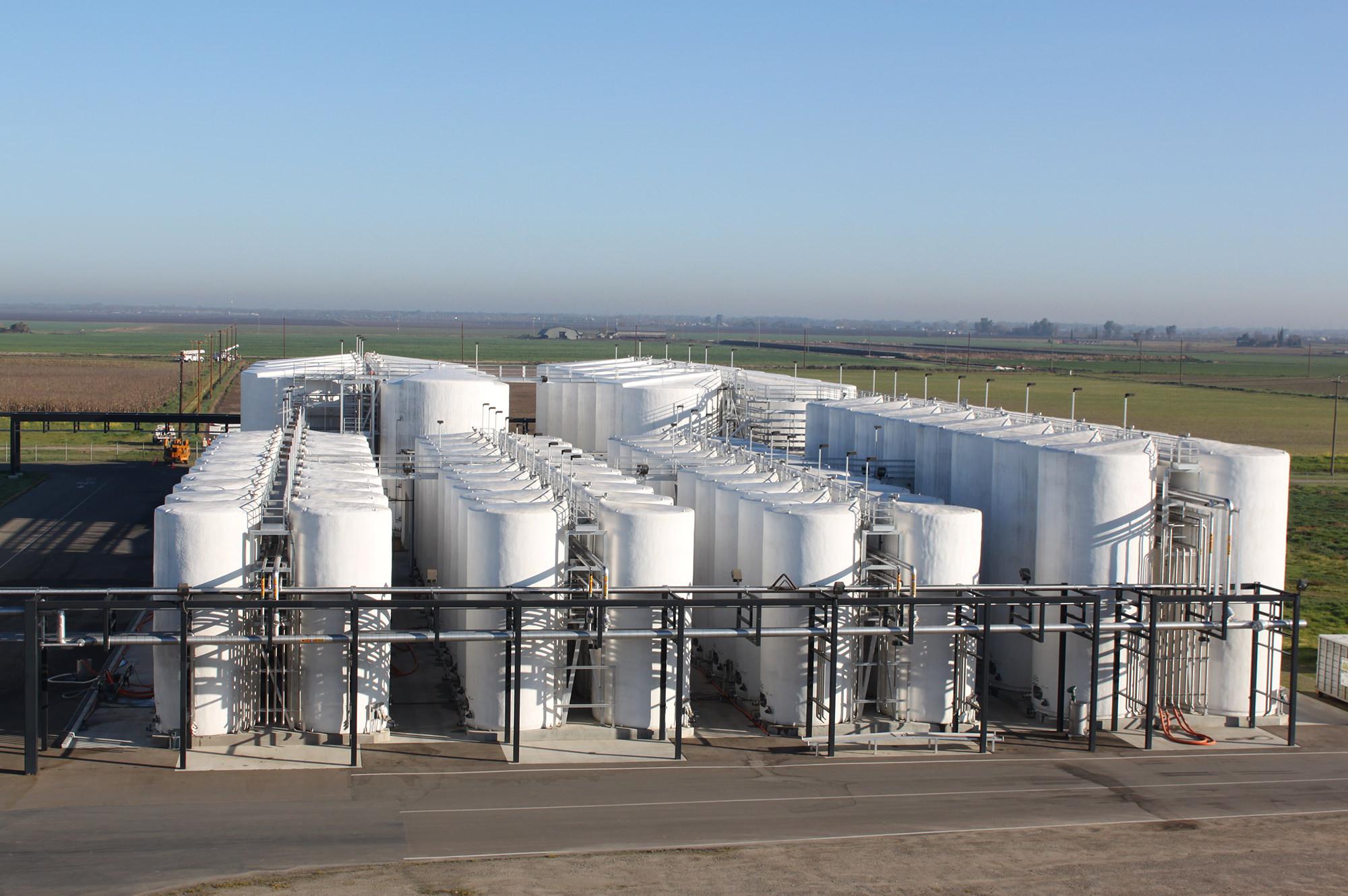 Tank Farm at industrial Winery