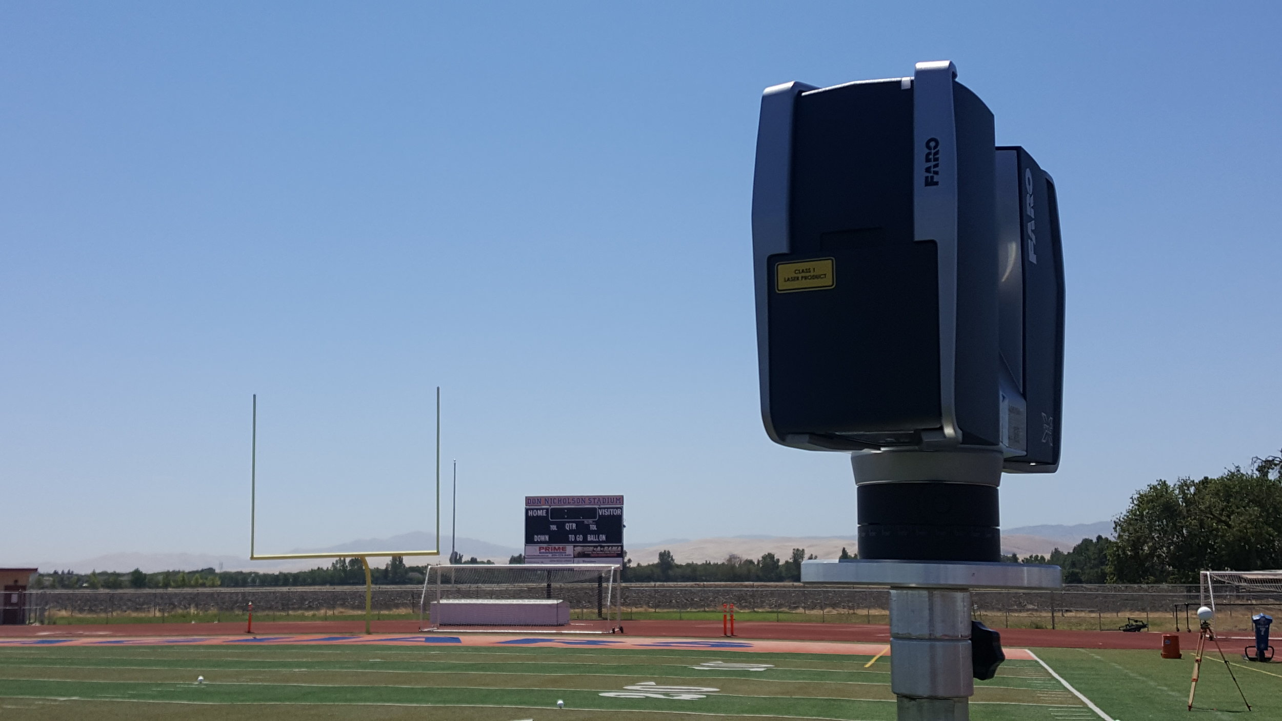 3D scan for athletic field