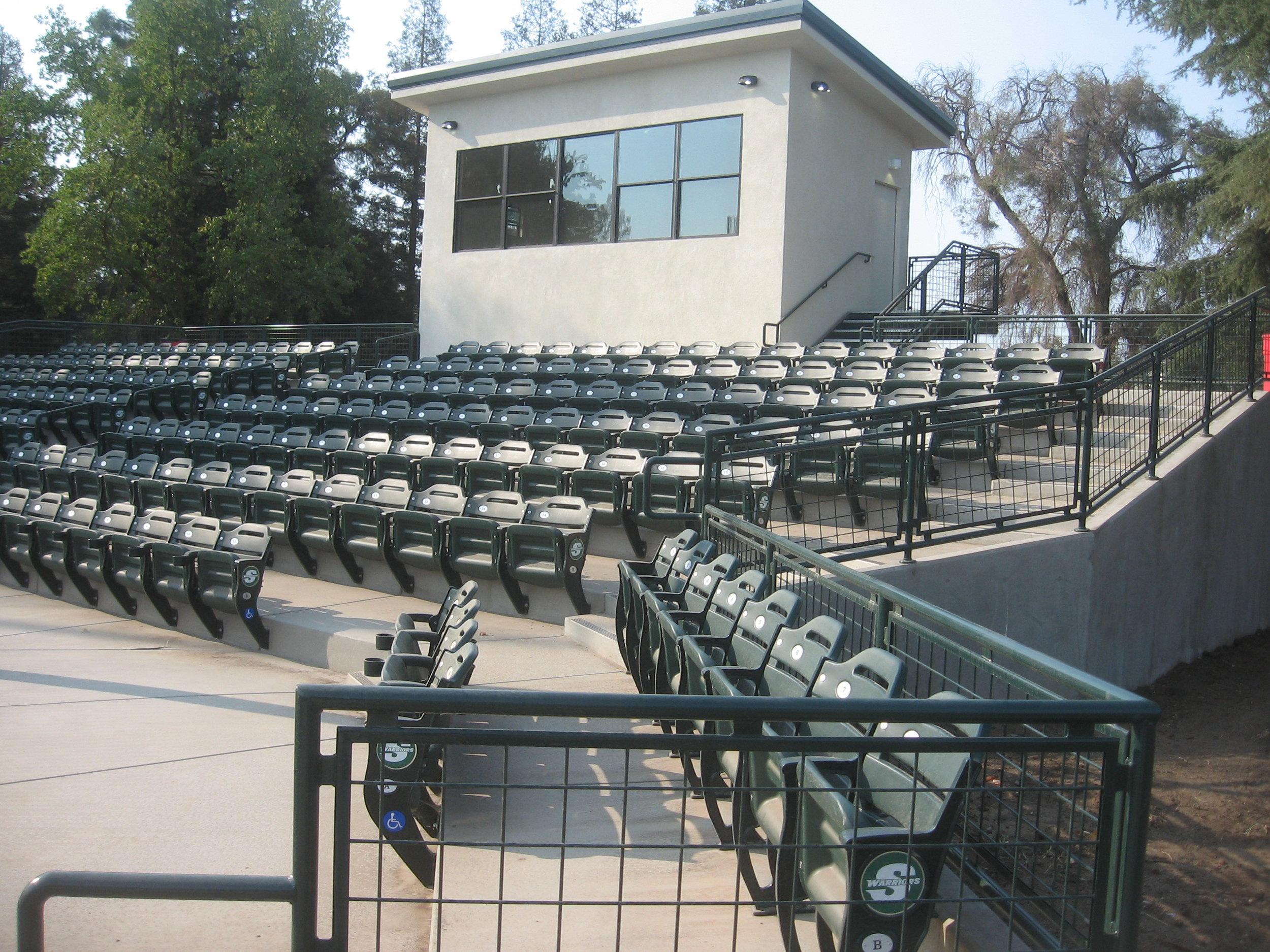 Grandstands & press box