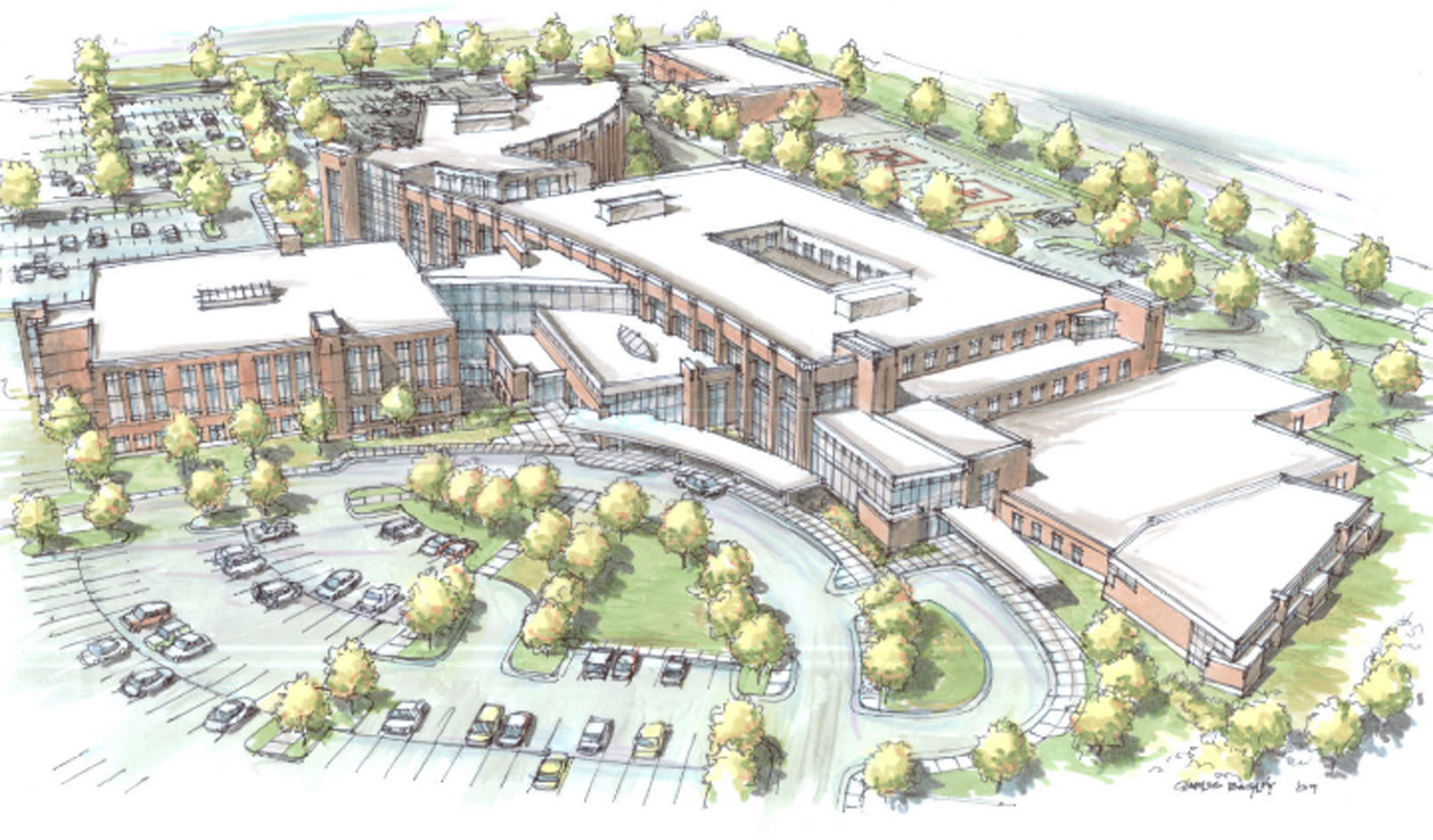 St. Luke's Magic Valley Medical Center -  General Design Category  - South Landscape Architecture