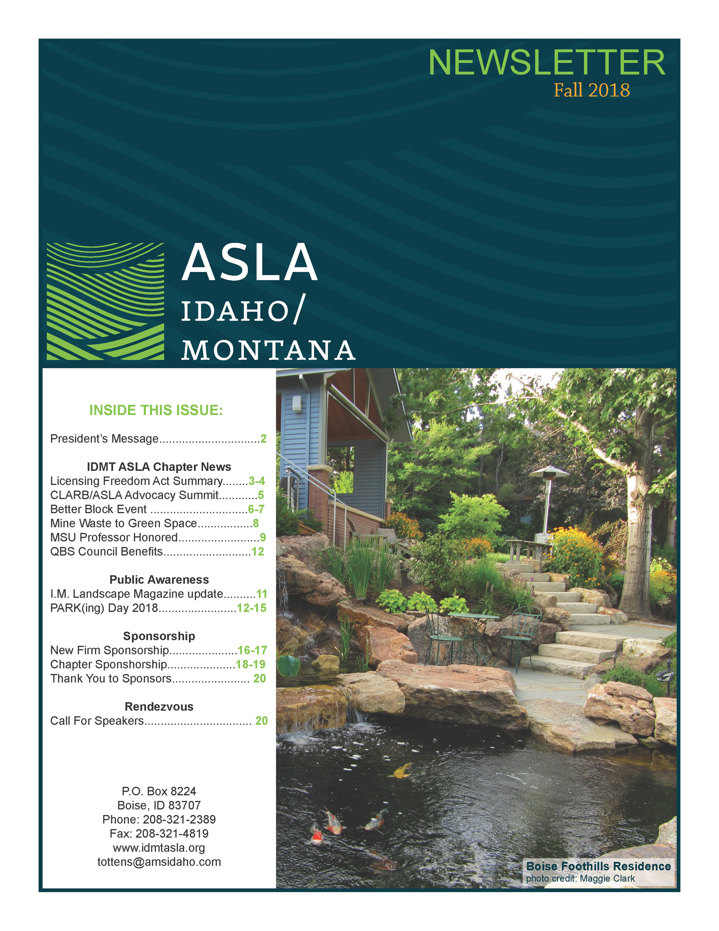 IDMT ASLA Newsletter