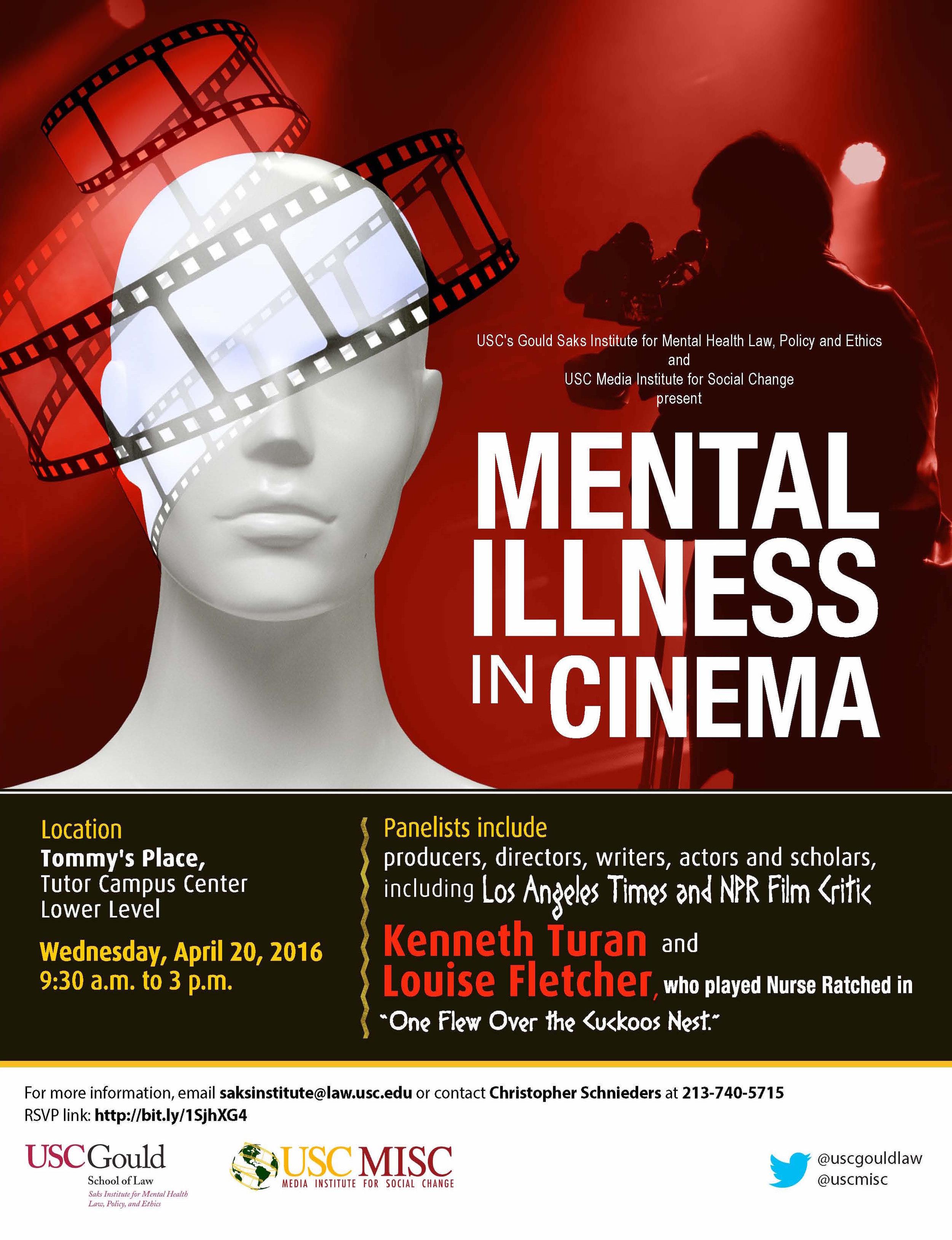 USC MISC Saks Institute Present Mental Illness in Cinema