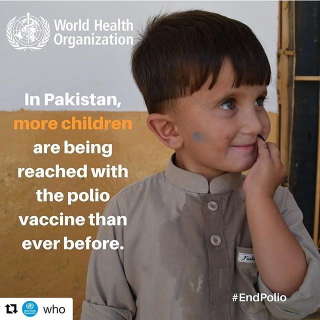 #images4change #heath #development #polio #Repost @who // In #Pakistan 🇵🇰, more children are being reached with the polio vaccine than ever before. Let's #EndPolio!