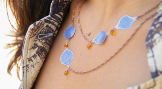 Hydrangea Necklace from Impressed by Nature