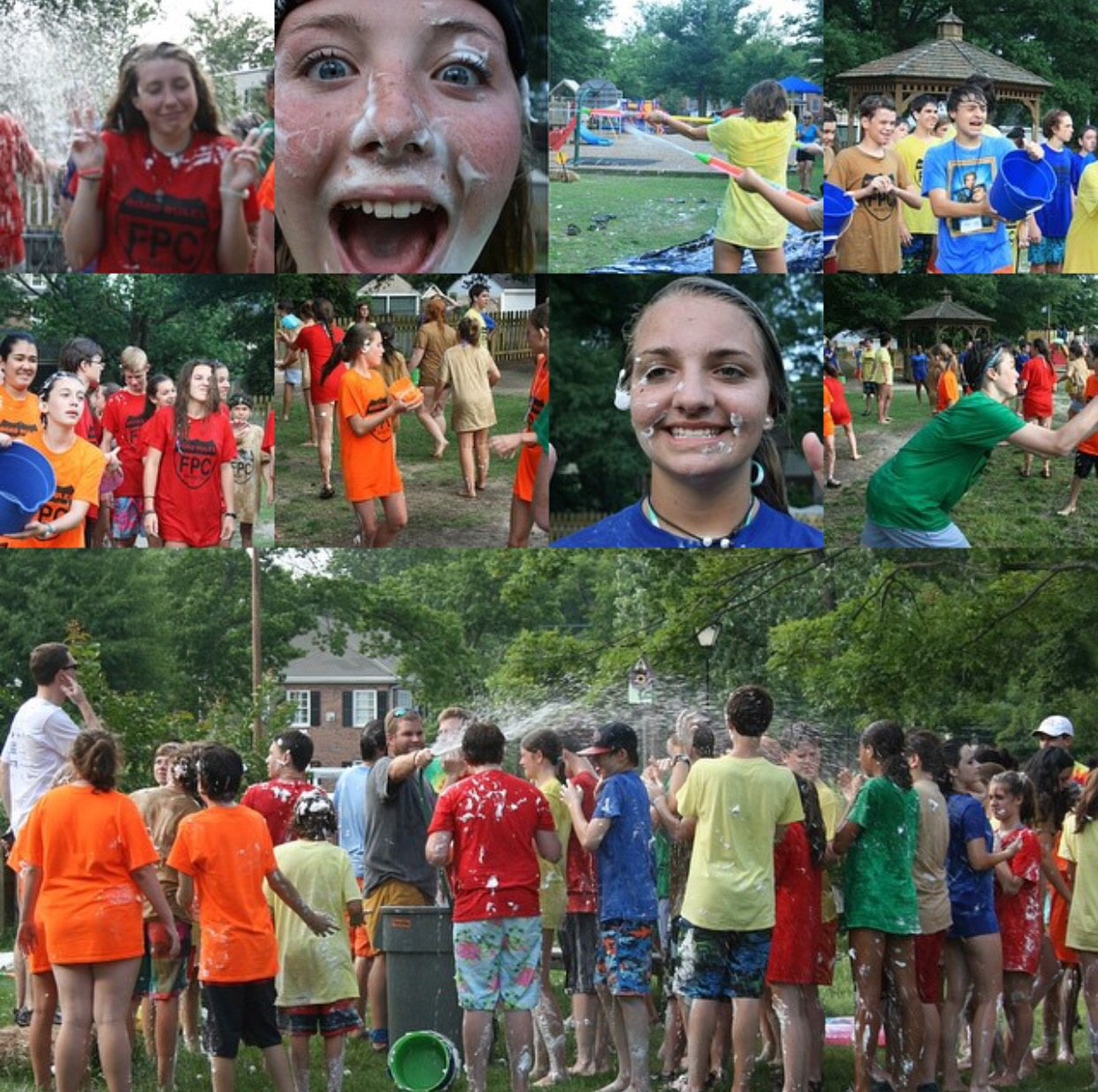Ended our first full day of work cooling off with some water games!